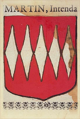 Arms of Robert d'Autre. Lord of Saint Gobert residing in Neufvilles, place of Espernay.